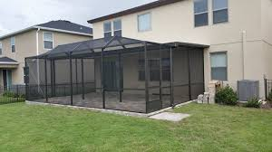 Backyard Screen House by Screen Rooms And Pool Enclosures Superior Gutters And Screen