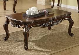 Cherry Wood Coffee Table Remington Sofa In Brown Cherry Finish By Acme 50155