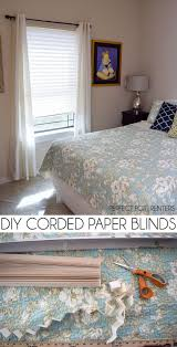 diy corded paper blinds cheap window covering paper blinds