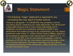 Army Counseling Magic Statement Ncodp January