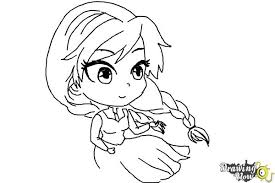 draw chibi anna frozen drawingnow
