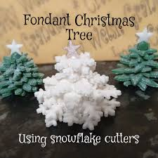 fondant snowflake tree 6 steps with pictures