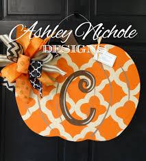 pumpkin door decoration quatrefoil pumpkin door hanger door decoration whimsical