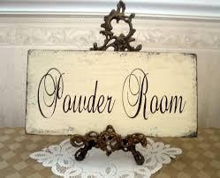 Vintage Powder Room Powder Room Bath Shabby Cottage Vintage Style Sign