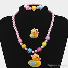 colour beads necklace images Candy colour beads girl kids duck party princess jewelry necklace jpg