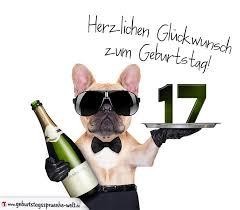 sprüche 17 geburtstag glückwunschkarte mit hund zum 17 geburtstag geburtstagssprüche welt