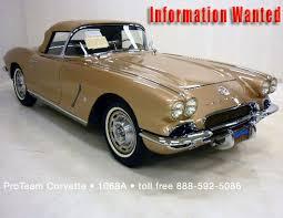 62 corvette convertible for sale corvette for sale 1962 1068a