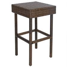 Patio Furniture Bar Set - 3pc wicker bar set patio outdoor backyard table u0026 2 stools rattan