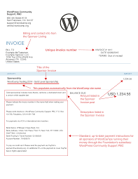 Free Email Invoice Template Creating Sponsor Invoices U2013 Make Wordpress Communities