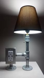 Desk Lamp With Power Outlet Cool Pipe Lamp With Cell Phone Holder And Usb Charging Outlet