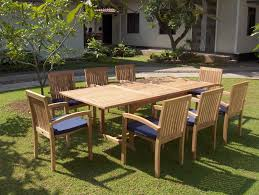 Patio Table Decor Best Teak Outdoor Dining Table U2014 The Homy Design