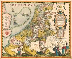 Map Of Netherlands Cool Old Lion Shaped Map Of The Low Countries By Petrus Kaerius