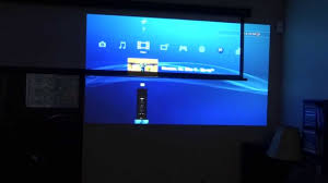 home theater screen fabric projecting onto wall vs projecting onto screen comparison youtube