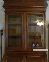 bureau cabinet m ical special antique burled walnut cyndrical roll top bookcase bureau