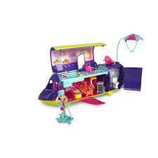 amazon polly pocket adventure jet 20 pieces ages 4 toys