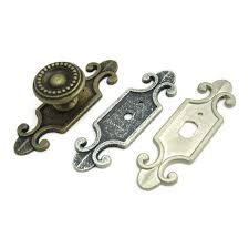 cabinet handles with backplate antique style decorative back plate for cabinet knobs