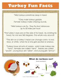 thanksgiving printable turkey facts