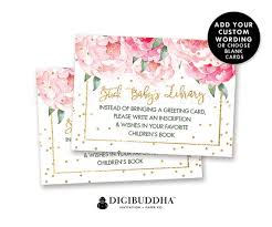 floral baby shower stock the library custom insert white cards