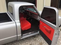 Chevrolet C10 Interior 1967 Chevrolet C10 Resto Mod Matte Silver Finish And Black Red
