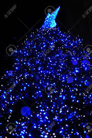 beautiful christmas tree at night stock photo picture and royalty