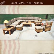 Craftsman Sofa Wood Framed Designed By Greene  Greene - Custom sectional sofa design