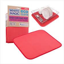 dish drying mat white magic