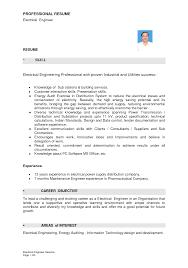 Engineering Resume Format Download Engineering Electrical Engineering Resume Format