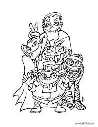 Scary Monsters For Halloween Spooky Monsters Coloring Pages Hellokids Com