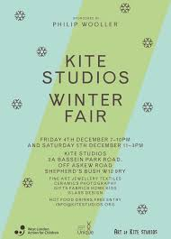 kite studios winter fair friday 4th and saturday 5th december