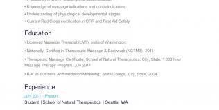 massage therapist resume skills resume examples for massage