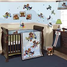 Honey Bear Crib Bedding by Airplane Boy Crib Bedding Planes With Bears Are Flying Into Your