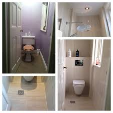 wc room transformed to wetroom with the addition of a drop head