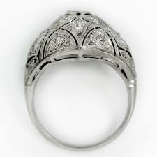 art deco filigree diamond ring claude morady estate jewelry