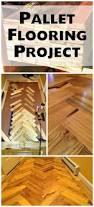 Pallet Of Laminate Flooring Chevron Wood Pallet Flooring Project 101 Pallet Ideas