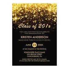 graduation invitation class of 2018 graduation gold glitter glam sparkle card zazzle
