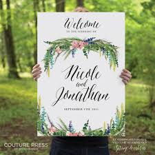 wedding welcome sign template printable wedding welcome sign watercolor wisteria rustic
