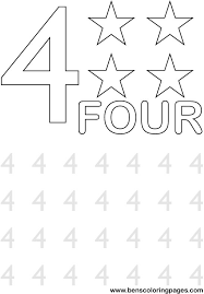 number 4 coloring getcoloringpages