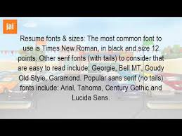 what is the best font size for a resume