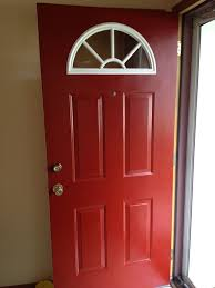 painting front door red behr premium ultra exterior red pepper