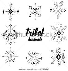 royalty free set of tribal ornaments vector design 421484116