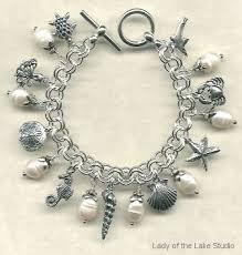sterling bracelet charms images Unique ocean themed designer charm bracelets giant pearl and jpg