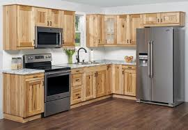 what paint color goes best with hickory cabinets klëarvūe l shaped kitchen w 10 cabinet cabinets only at