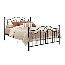 Black Metal Headboard And Footboard Vintage Style Queen Full Size Rustic Bed Frame Rustic Bedroom