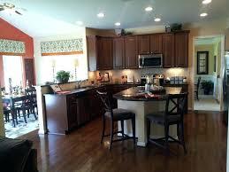 storage island blue and brown kitchen decor teak wood kitchen