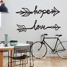 online get cheap love quotes baby aliexpress com alibaba group boho arrow hope love quote wall sticker living room baby nursery family inspiration quote wall decal bedroom kids room vinyl diy
