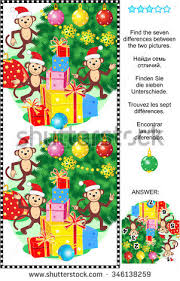 new year puzzle find seven stock vector 346138247