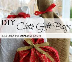 cloth gift bags diy cloth gift bags