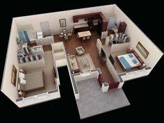 Two Bedroom House Plans by 1000 Square Feet 3d 2bhk House Plans Small Houses Pinterest