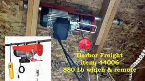 electric winch hf 44006 880lb i had lifted my heavy work bench