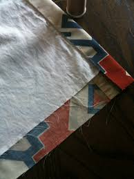 Make Curtains From Sheets Blog Archive How To U0027s Turning A Graphic Patterned Bed Sheet